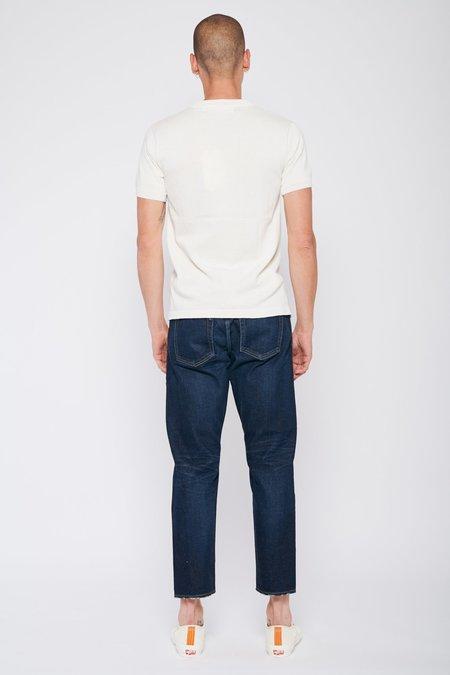 PROPAGANDA AGENCY Solid Short Sleeve Sweater Tee - Blanc