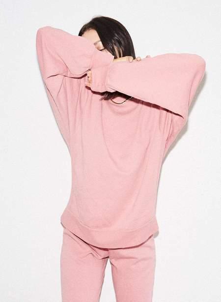 LnA Ribbed Panel Sweatshirt - Heather Pink