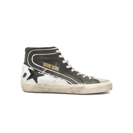 Golden Goose Slide Leather Upper and Wave Suede Toe and Star Sneakers