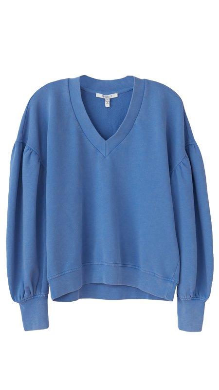 Citizens of Humanity Edie V-Neck Sweatshirt - Deep Blue