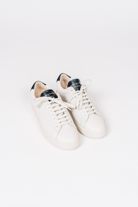 Zespa Off White Sneaker with Navy