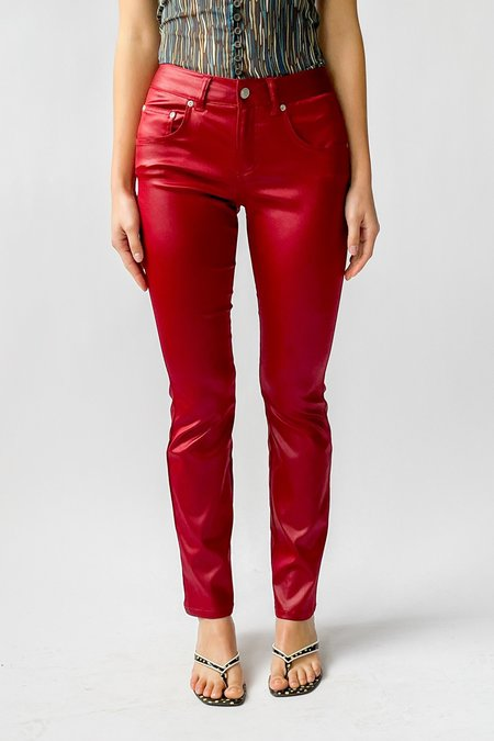 Vintage Low Rise Pants - Candy Red