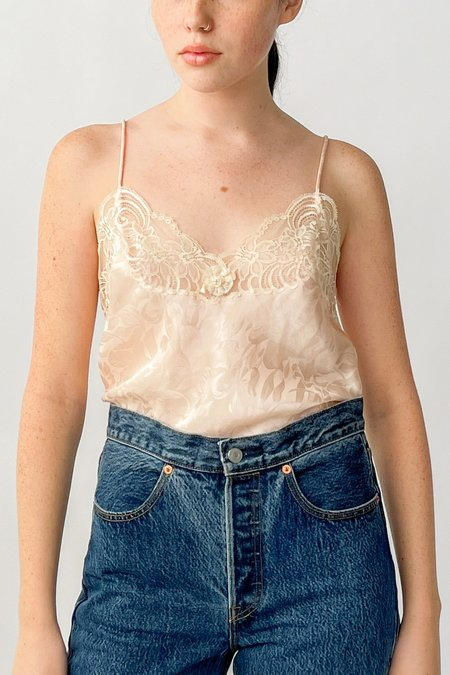 Vintage Dior Shell Lace Cami - Pink