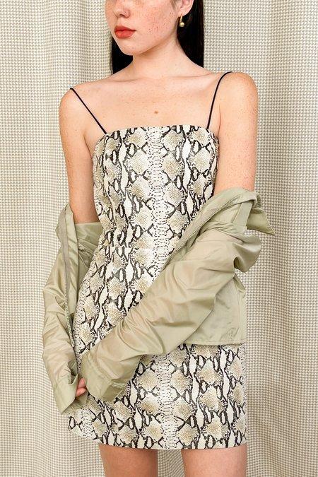 Vintage Hugo Buscati Leather Snake Embossed Dress