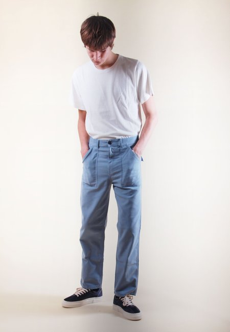 Stan Ray Fat Pant - grey/blue sateen