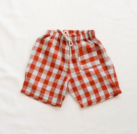 Kids Fin & Vince Pocket Shorts - Picnic Plaid