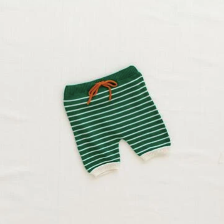 Kids Fin and Vince Zion Knit Shorts - Emerald