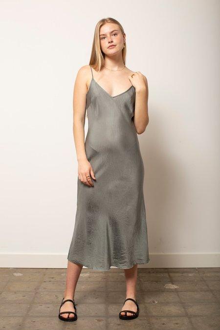 Organic John Patrick Long Bias Slip dress - Salvia