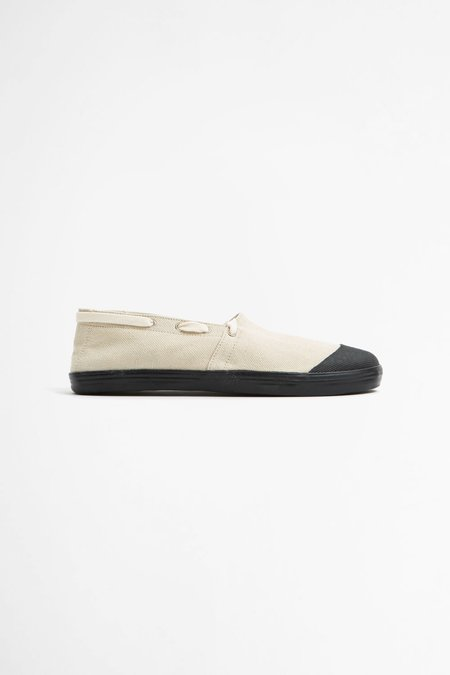 Reproduction of Found French military espadrilles - natural/black