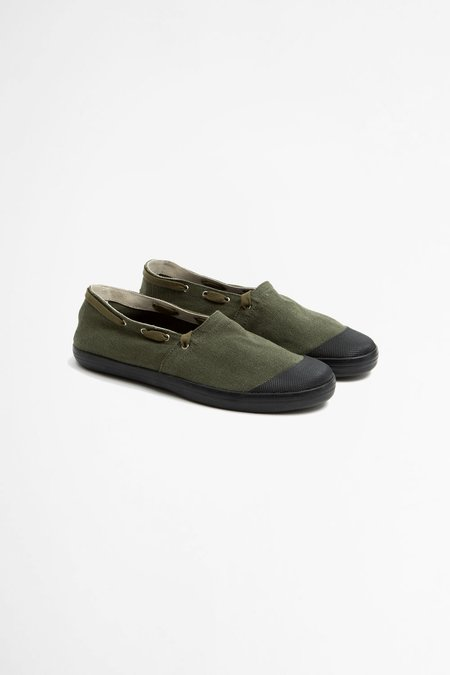 Reproduction of Found French military espadrilles - olive/black