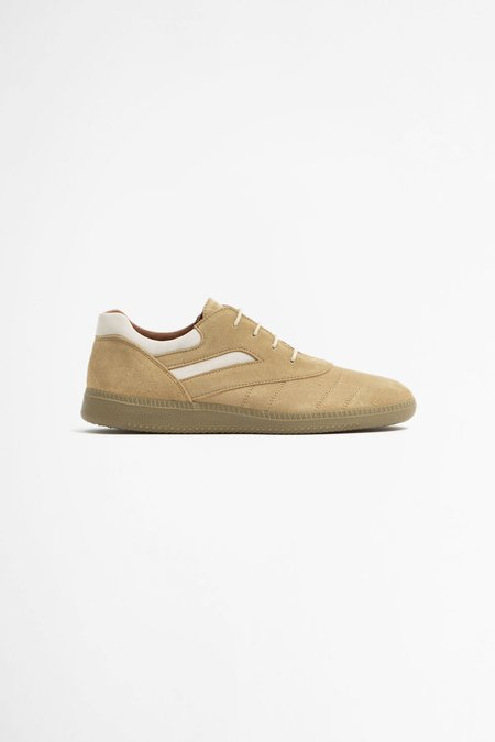 Reproduction of Found Serbian military trainer shoes - beige/off white suede