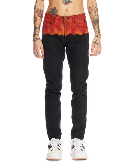Marcelo Burlon Printed Denim Jeans - black