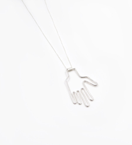 Young Frankk Silver Hand Necklace