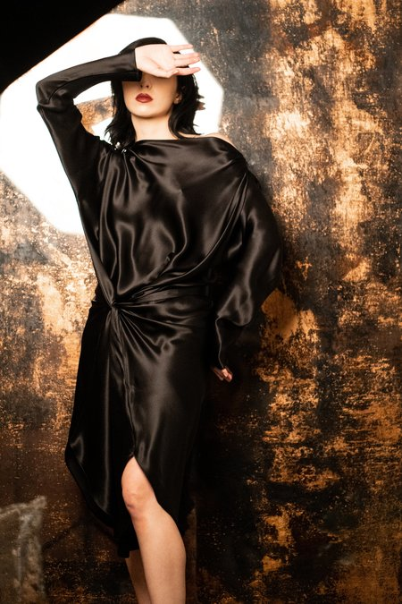 KES The Lia Dress - Midnight Georgette