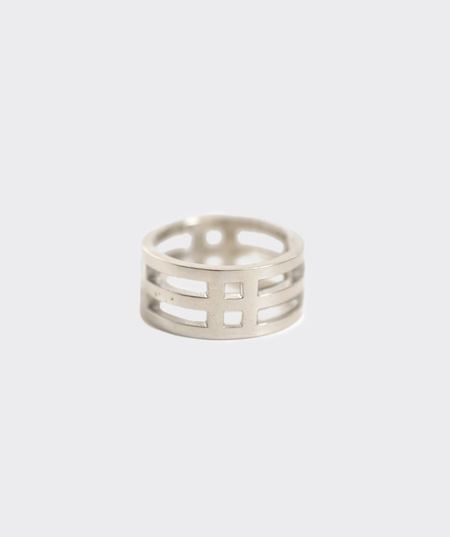 AEA Stackable Barrel Ring - Sterling Silver
