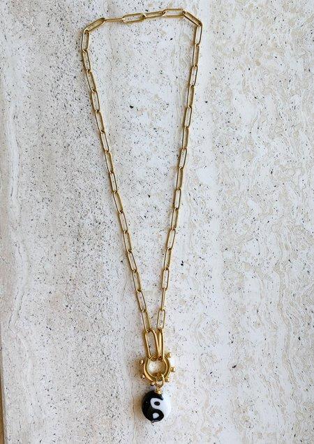 Notte Jewelry Yin Yang Necklace OR Single Earring