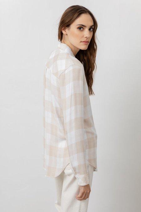 Rails Hunter Shirt - Almond/White