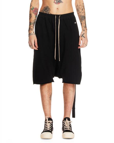 Rick Owens Drkshdw Cotton Loose Fit Shorts