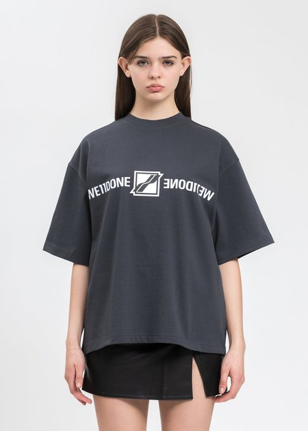 we11done Mirror Logo T-Shirt - Charcoal