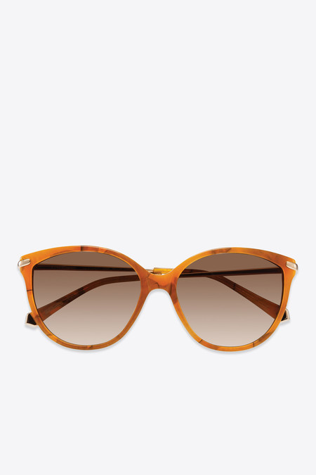 Kate Young for Tura Barbara Sunglasses in Amber
