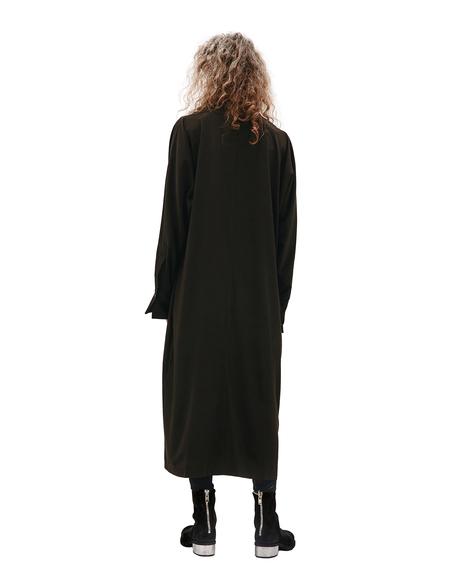 Y's Triacetate Dress - Black