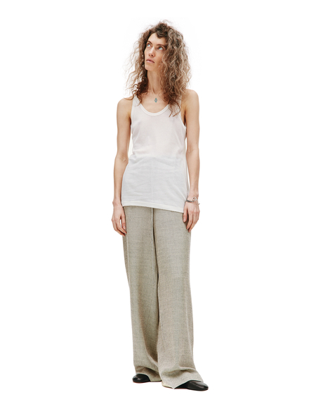 Maison Margiela Cotton & Silk Tank Top - White