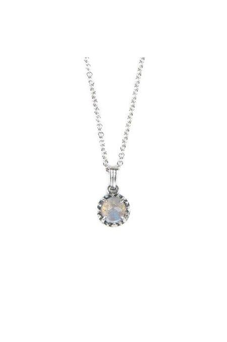 Angela Monaco Matrix Halo Necklace - Silver/Moonstone