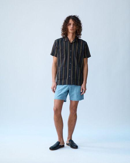 Corridor Summer Stripe Shirt - Black/Olive