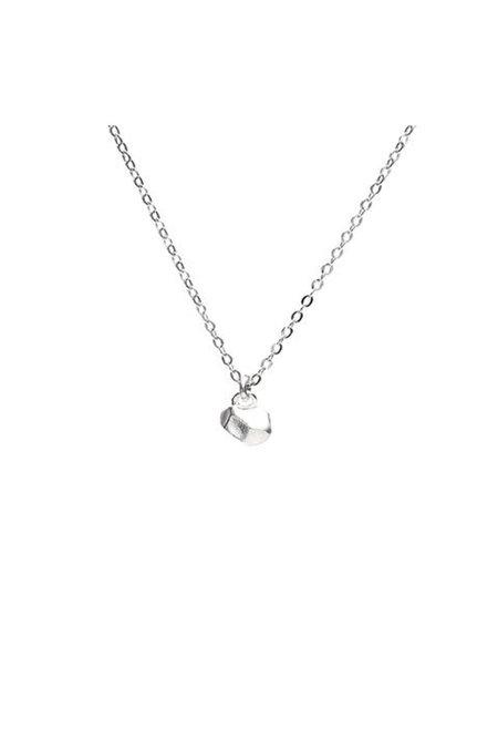 Angela Monaco Tiny Cast Crystal Necklace - Silver