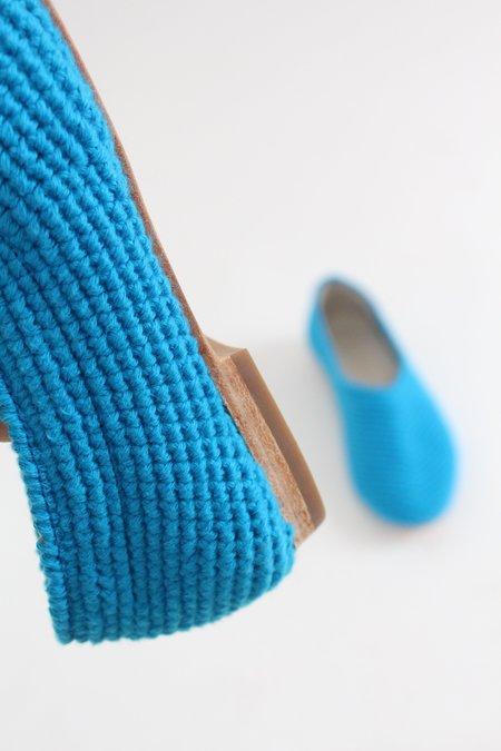 Beklina Crochet Ballet Flats - Greek Blue