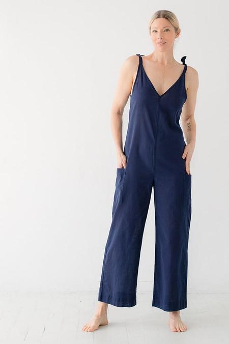 Salua Atelier Lingerie Tie Shoulder Jumpsuit