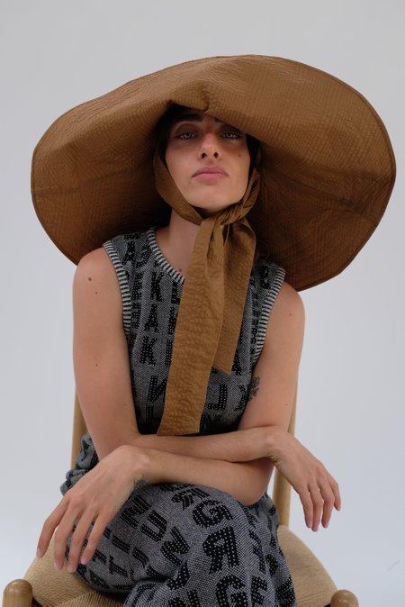 Beklina Voluminoso Tie Hat - Brown
