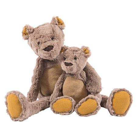 Kids Moulin Roty Large Les Baba Bou Bear Soft Toy - Brown