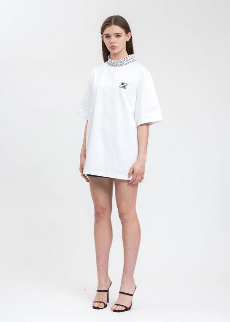 we11done High Neck Logo 1/2 T-Shirt - White