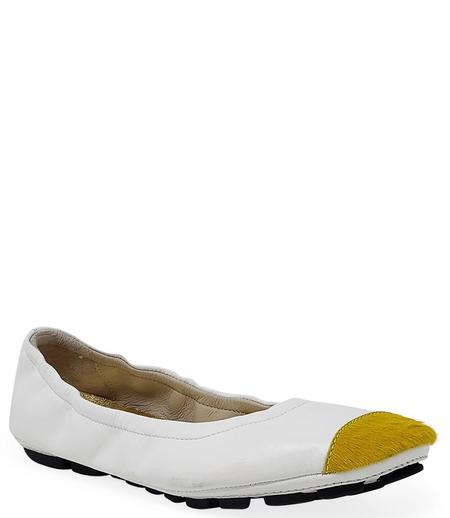 Madison Maison By Fashion Moda Ballet - White/Yellow