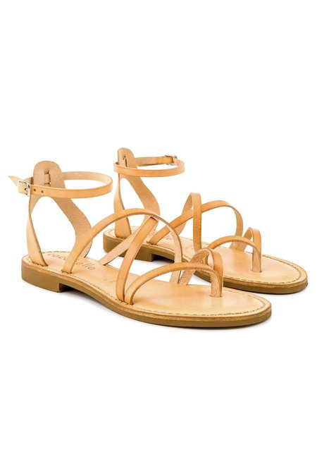 Cocobelle Leather Leona Sandals - Natural