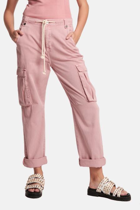 One Teaspoon Cargo Safari Relaxed Pants - Dirty Pink
