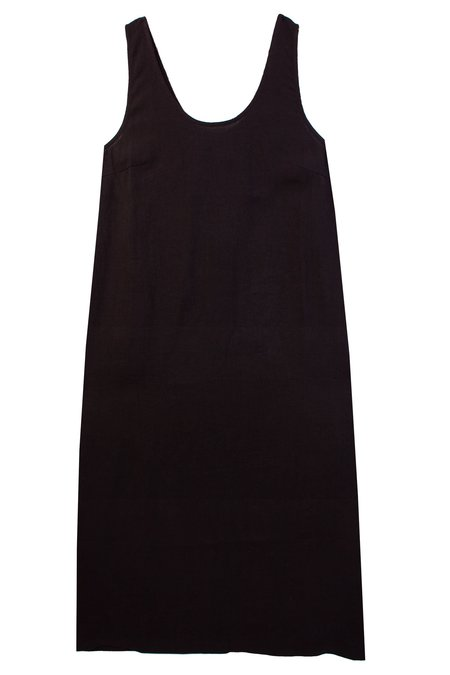 L.F.Markey Basic Linen Shift Dress - Black