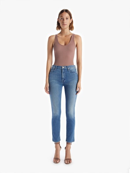 Mother Denim The Mid Rise Ankle Dazzler Jeans - I Wet My Plants