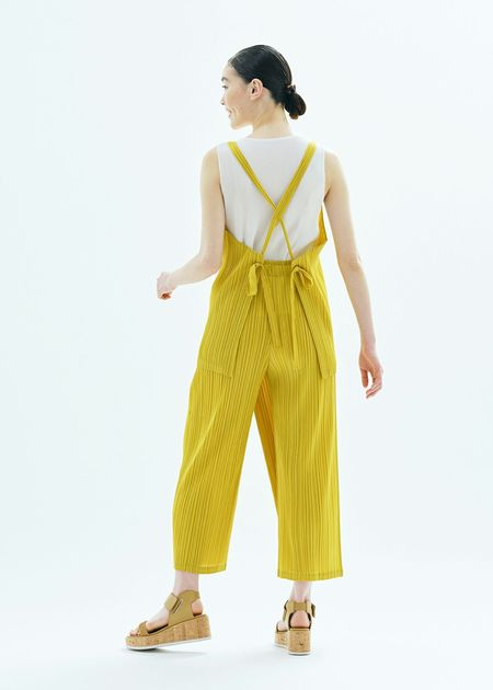 Pleats Please by Issey Miyake May Wrap Pants - Ochre