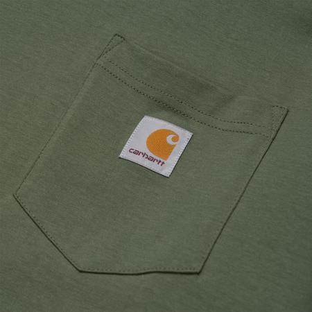 CARHARTT WIP L/S POCKET TEE - DOLLAR GREEN