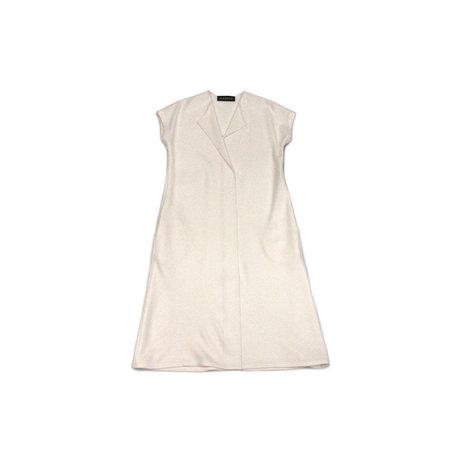 Alasdair Wool Slash Dress in Ivory