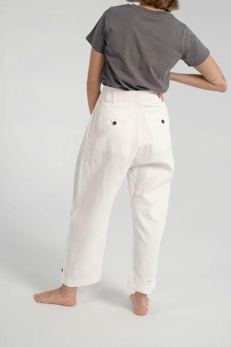 Studio Nicholson Bag Pants - Milk