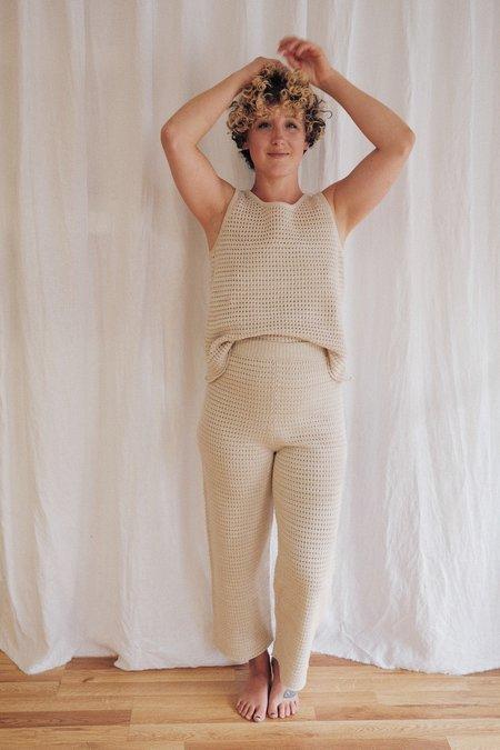 Wol Hide Mesh Lounge Pant - Natural
