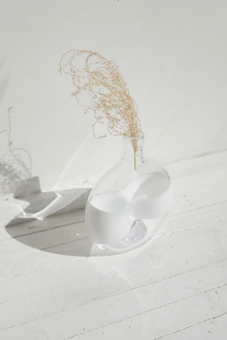 Dougherty Glassworks Color Band Cruet - White