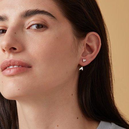 Jenny Bird Hidden Heart Ear Jacket - Silver