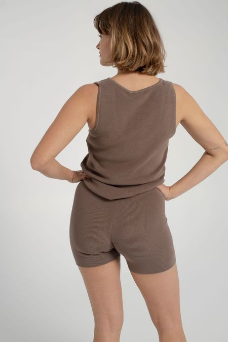signe Knit Shorts - Taupe