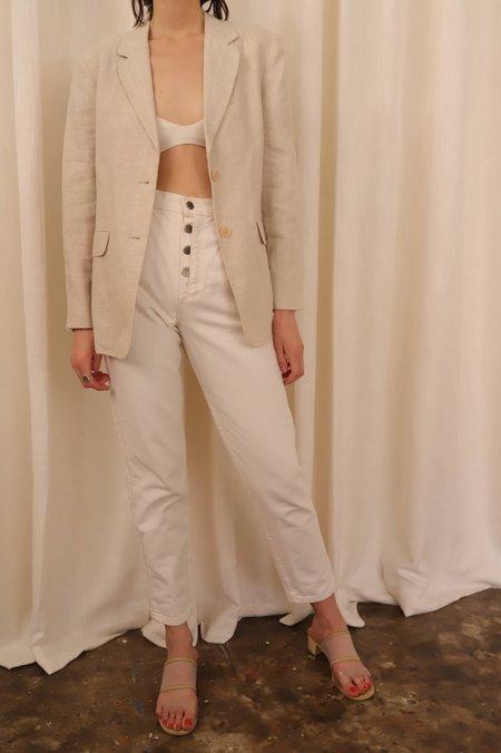 Vintage Natural Linen Blazer