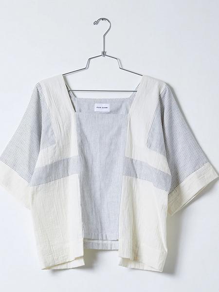 Atelier Delphine Block Top - Stripe Gauze