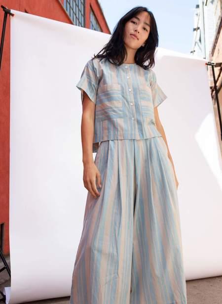 Seek Collective Megan Shirt - Cirrus Stripe
